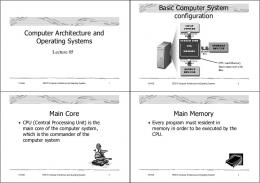 Computer Architecture and Operating Systems Basic Computer ...