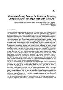 Computer-Based Control for Chemical Systems Using