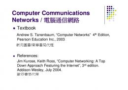 Computer Communications Computer Communications Networks ...
