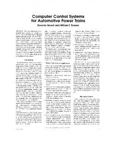 Computer control systems for automotive power trains - IEEE Control ...