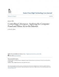 Computer Fraud and Abuse Act - Santa Clara Law Digital Commons