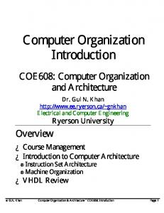 Computer Organization Introduction