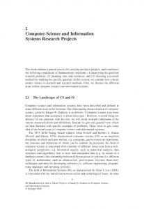 Computer Science and Information Systems Research Projects
