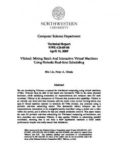 Computer Science Department - Virtuoso - Northwestern University