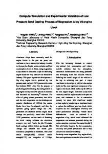 Computer Simulation and Experimental Validation of ...