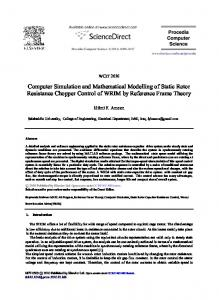 Computer simulation and mathematical modelling of ...