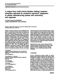 computer simulation approach for productive operators ... - Springer Link