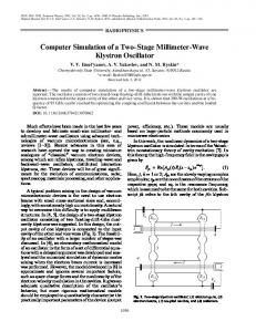 Computer Simulation of a Two Stage Millimeter Wave ... - Springer Link