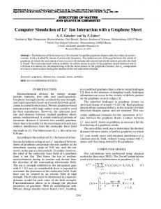 Computer Simulation of Li+ Ion Interaction with a ... - Springer Link