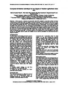 Computer simulation technique for two degree of ... - BioInfo Publication