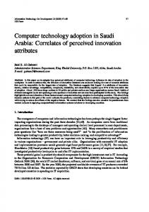 Computer technology adoption in Saudi Arabia - Information ...