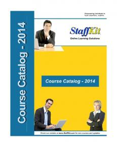Computer Training Course Catalog - Staffkit Online Training
