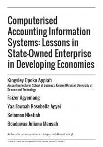 Computerised Accounting Information Systems - Independent ...