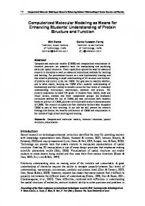 Computerized Molecular Modeling as Means for ... - CiteSeerX