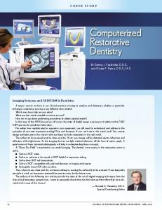 Computerized Restorative Dentistry