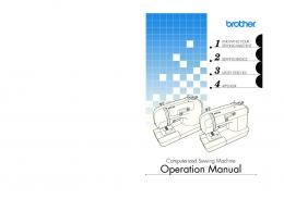 Computerized Sewing Machine Operation Manual - Brother