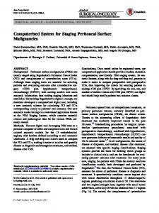 Computerized System for Staging Peritoneal Surface ...