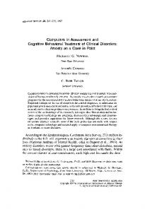 Computers in Assessment and Cognitive Behavioral ... - Science Direct