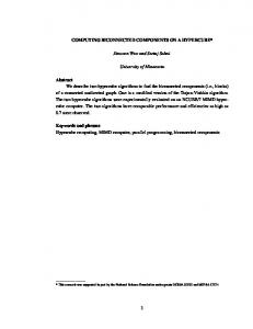 COMPUTING BICONNECTED COMPONENTS ON A ... - UF CISE