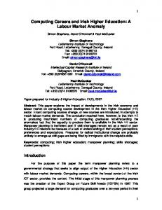 Computing Careers and Irish Higher Education: A Labour Market ...