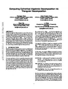 Computing Cylindrical Algebraic Decomposition via Triangular ...