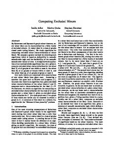 Computing Excluded Minors - Martin Grohe