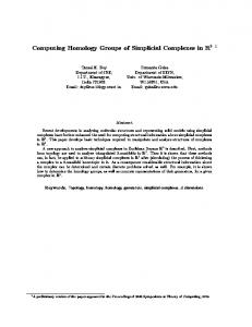 Computing Homology Groups of Simplicial ... - Semantic Scholar