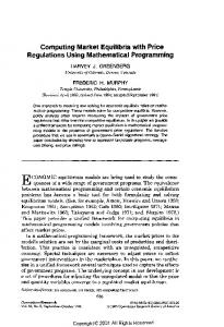Computing Market Equilibria with Price Regulations Using ...