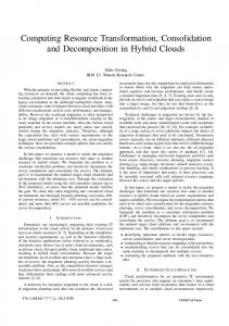 Computing Resource Transformation, Consolidation ... - IEEE Xplore