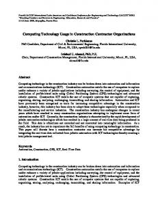 Computing Technology Usage in Construction Contractor ... - laccei