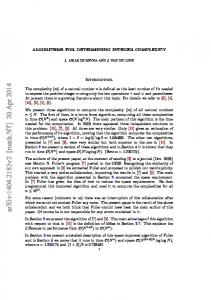 Computing the Complexity of Natural Numbers - arXiv