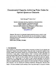 Concatenated Capacity-Achieving Polar Codes for Optical