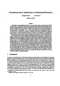 Concealment and its Applications to Authenticated Encryption