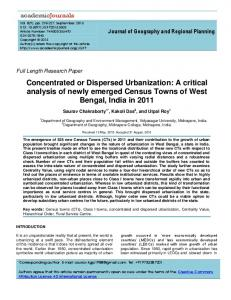 Concentrated or Dispersed Urbanization: A ... - Academic Journals