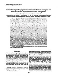 Concentrating anthropogenic disturbance to ... - Wiley Online Library