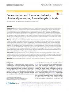 Concentration and formation behavior of naturally occurring ...