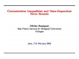 Concentration Inequalities and Data-Dependent Error Bounds