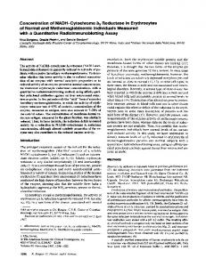 Concentration of NADH-Cytochrome b5 ... - Semantic Scholar