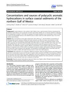 Concentrations and sources of polycyclic aromatic hydrocarbons in ...