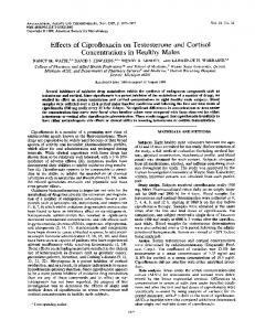 Concentrations in Healthy Males - Antimicrobial Agents and ...