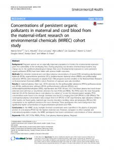 Concentrations of persistent organic pollutants in maternal and cord ...