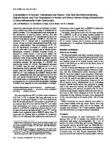 Concentrations of Salivary Testosterone and ... - Clinical Chemistry