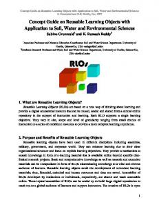 Concept Guide on Reusable Learning Objects with Application to Soil ...