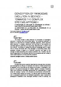 conception of paradigms evolution in science ...