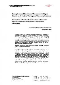 Conceptions and Practices of Assessment in Higher Education: A ...