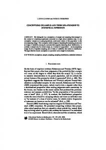 CONCEPTIONS OF SAMPLE AND THEIR ... - Pat Thompson