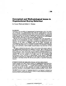 Conceptual and Methodological Issues in ...