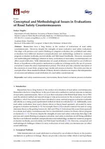 Conceptual and Methodological Issues in Evaluations of Road ... - MDPI