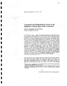 Conceptual and Methodological Issues in the ... - Paul Ekman Group