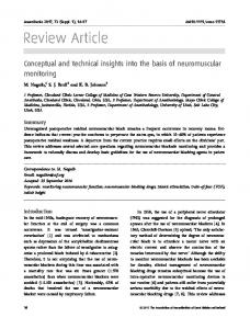 Conceptual and technical insights into the basis ... - Wiley Online Library